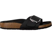 Black Birkenstock Papillio Shoe Madrid Big Buckle Schwarz Damen