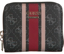 Guess Portemonnaie Jensen Slg Small Zip Around Schwarz Damen