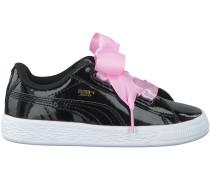 Schwarze Puma Sneaker BASKET HEART PATENT KIDS