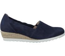 Blaue Gabor Slipper 646