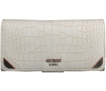 Weisse Guess Portemonnaie TRYLEE FILE CLUTCH