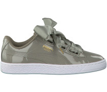 Taupe Puma Sneaker BASKET HEART PATENT