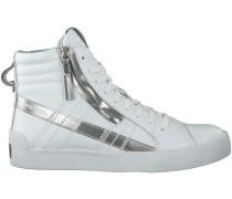 Weisse Diesel Sneaker D-STRING