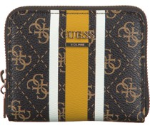 Guess Portemonnaie Jensen Slg Small Zip Around Braun Damen