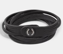 Mehrreihiges Wickelarmband, schwarz