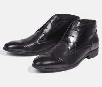Schnür-Stiefel New Harley, schwarz