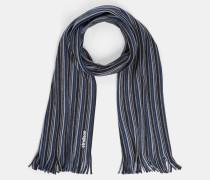 Strickschal, blau/grau