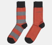 Soft Cotton Socken, rost gestreift