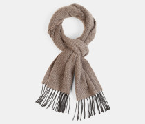 Schal mit Zick-Zack-Muster, taupe
