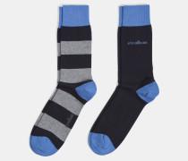 Soft Cotton Socken, marine gestreift