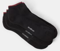 Sneaker-Socken, schwarz