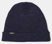 Rippstrick-Mütze, marine
