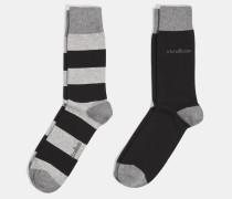 Soft Cotton Socken, schwarz gestreift