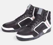 High Top Sneaker Paul, schwarz/weiß