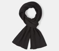 Rippstrick-Schal, schwarz