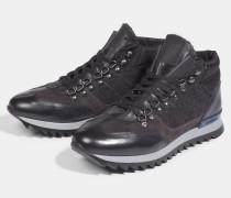 High Sneaker Claude, schwarz/grau