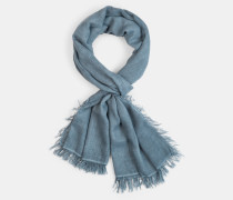 Schal, blau-grau