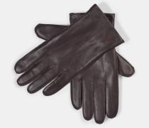 Lederhandschuhe, dunkelbraun