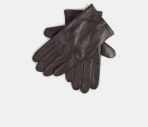 Lederhandschuhe in Geschenkbox, dunkelbraun