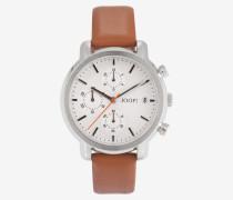 Chronograph in Silber/Hellbraun Hellbraun