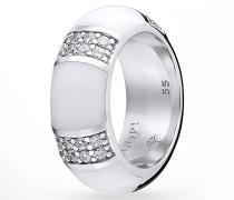 Ring Amanda in Silber/Weiß