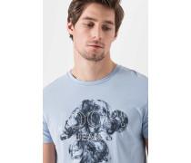 Print-Shirt Alick in Hellblau