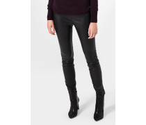 Leder-Leggings Lia in Schwarz