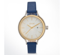 Armbanduhr Jessica Gold/Blau