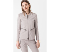 Jersey-Blazer Jia in Taupe