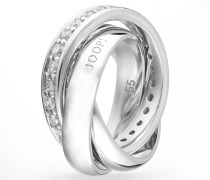 Ring Embrace in Silber mit Zirkonia