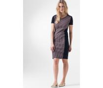 Etui-Kleid Darcy in Dunkelblau mit Muster