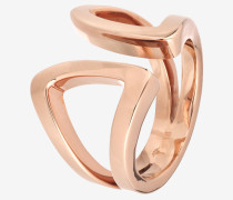 Ring Modern Shaped in Roségold