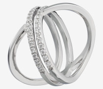 Ring Refined in Silber/Weiß Silber