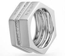 Ring-Set Edged in Silber