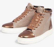 Hightop-Sneaker Daphne in Taupe