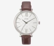 Armbanduhr Classic in Silber/Braun Braun