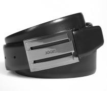 Gürtel mit markanter Schließe in Schwarz