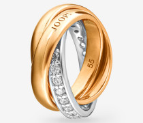 Ring Embrace in Roségold/Silber