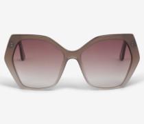 Sonnenbrille in Hellbraun/Grau