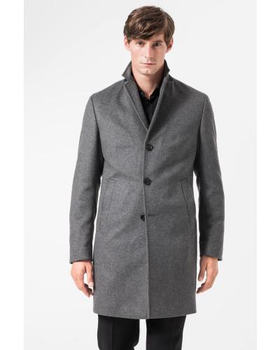 joop herren mantel mariso in grau meliert reduziert. Black Bedroom Furniture Sets. Home Design Ideas