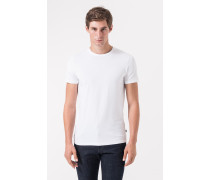 Rundhals-T-Shirt im 2er-Pack in Weiß