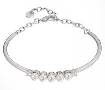 Armreif Travel Pearls in Silber