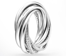 Ring Embrace mit Zirkonia in Silber