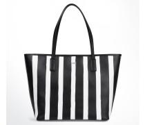 Gestreifter Shopper Lara in Schwarz/Weiß