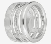 Ring Modern Twist in Silber