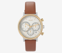 Chronograph in Gold/Cognac
