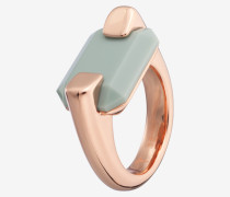 Ring Modern in Roségold/Türkis Türkis