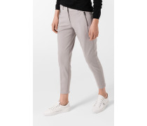 Jersey-Hose Mia in Taupe