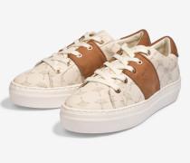 Plateau-Sneaker Daphne in Natur-Weiß