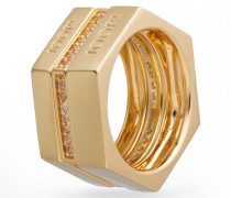 Ring-Set Edged in Gold